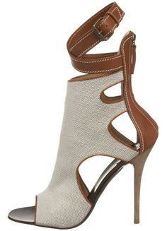 Giuseppe Zanotti Women's Open-Toe Ankle-Boot What can I say? I have a thing for shoes! Bootie Boots, Shoe Boots, Shoes Heels, Ankle Boots, Pretty Shoes, Beautiful Shoes, Crazy Shoes, Me Too Shoes, Mode Shoes