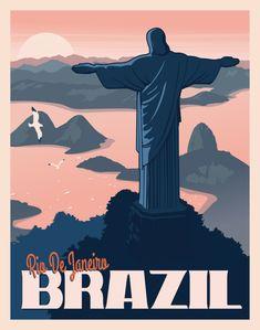 Rio de Janeiro, Brazil - Wall art / Art Deco poster