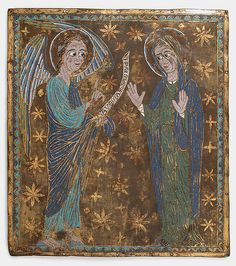 Plaque with the Annunciation | ca. 1200–1225 | Made in Catalonia, Spain or Catalan or Central Italian