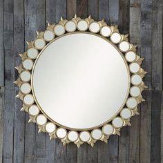 fleur-de-lis round mirror