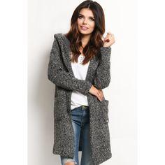 Cardigan cu gluga gri-inchis   #outfit #highheel   #onlineshopping #fashion  #style  #cardigan #cardiganedama #chic #cardigans