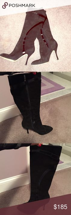 VIA SPIGA Italian Boots Suede boots made with Italian leather. Given as a gift and never worn. Fall just below the knee Via Spiga Shoes Heeled Boots