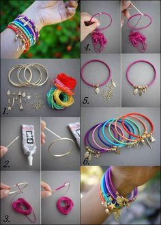 How to make colorful wrist band step by step DIY instructions | How To Instructions