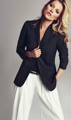 Good Life of Design - Love the classic look of white pants with a black blazer. One of my favorites. Never goes out of style.