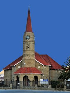 Dutch Reformed church of Queenstown, Eastern Cape, South Africa. Photo by JdB. Church Pictures, Religious Architecture, Cathedral Church, Old Churches, Church Building, Building Structure, Beaches In The World, Brick And Stone, Mosques