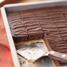 Austrian Chocolate Walnut Bars - Try this moist chocolate bar recipe with a rich rum-cocoa frosting. The apricot walnut crust makes this cookie dessert an irresistible treat. Holiday Cookie Recipes, Cookie Desserts, Holiday Desserts, Holiday Cookies, Holiday Baking, Cake Bars, Dessert Bars, Dessert Food, Potluck Recipes