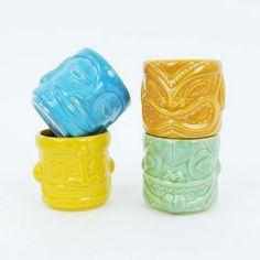 Polynesia Tiki Mugs - Set of 4   dotandbo.com