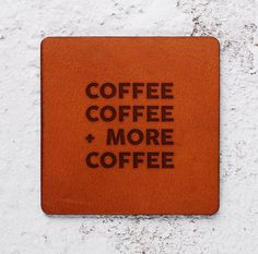 Housewarming gift Bff gift Coffee lover Leather Coaster