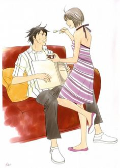 Nodame Cantabile: Nodame Cantabile CD Selection Book 2 - Page 24 Anime Couples, Cute Couples, Manga Mania, Pictures Images, Actors, Shoujo, Anime Love, Manhwa, Cosplay