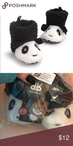LAST PAIR BABY BOOTS Panda. Soft sole w Velcro closure Shoes Baby & Walker