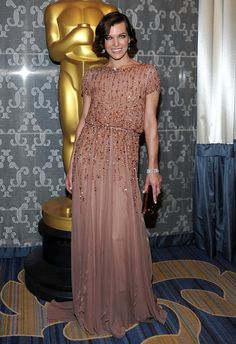 Milla Jovovich in Elie Saab Couture @ the Academy of Motion Picture Arts and Sciences Awards