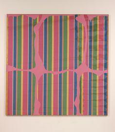 "topcat77: "" Daniel Buren Peinture aux formes variables, October 1965 Oil on canvas, """