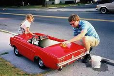 倫☜♥☞倫 Mustang pedal car . Vintage Trucks, Vintage Toys, Radio Flyer Wagons, Bugatti, Power Cars, Kids Ride On, Pedal Cars, Toy Trucks, Small Cars