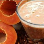Papaya and Almonds This Shake Flattens The Belly, Cleans The Colon, and Removes Fat Detox Shakes, Flatten Belly, Lose Belly, Cleaning Your Colon, Gluten Free Oatmeal, Natural Colon Cleanse, Healthy Shakes, Balanced Diet, Remedies