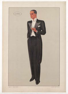 Menswear 1930s- Italian, Plate 017. . Fashion plates, 1700-1955. The Costume Institute Fashion Plates. The Metropolitan Museum of Art, New York. Gift of Woodman Thompson (b17520939) | This dapper gentleman is showing off some of 1934's finest in men's fashion. #fashion