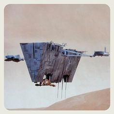 Dune Directed by David Lynch Spice Harvester being lifted by Carryall craft. by glazyuk Fiction Movies, Science Fiction Art, Sci Fi Movies, Concept Ships, Concept Art, Dune Film, Dune Art, Spaceship Design, David Lynch