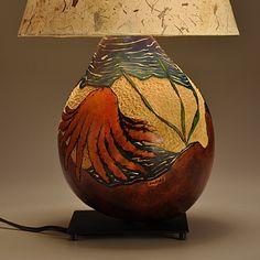 Gourd Lamp Seashore Design