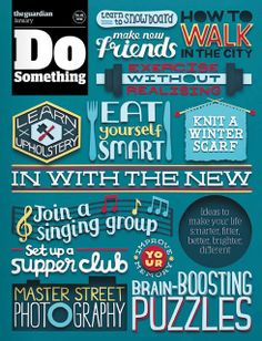 """The Guardian newspaper launches a new monthly supplement. """"Do Something"""" - cover"""