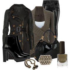 #womens fashion. #leather