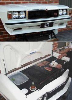 Repurposed Car Parts - Hot Rod BBQ Grills