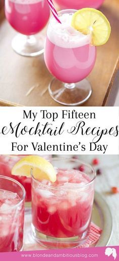 My Top 15 BEST Mocktail Recipes For Valentine\u0027s Day cocktail