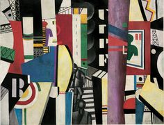 Fernand Léger, The City (1919), oil on canvas, 7′ 7″ x 9′ 9-1/2″; courtesy Philadelphia Museum of Art, A.E. Gallatin Collection