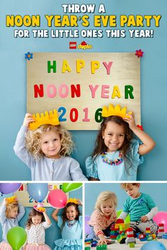 PARTY TIP: Looking for something fun to do this New Year's Eve with the little ones? We've got some fun ideas to help you celebrate at the strike of noon with a LEGO DUPLO building party!