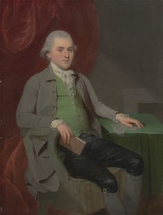 John Downman, 1750–1824, British, An Unknown Man, ca. 1780, Oil on panel, Yale Center for British Art, Paul Mellon Collection
