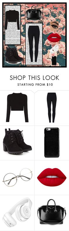 """Untitled"" by killerbarbiexoxo-123 on Polyvore featuring Red Herring, Maison Margiela, Lime Crime, Beats by Dr. Dre and Givenchy"