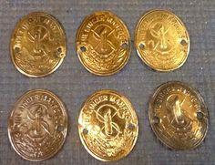 Vintage Lot Of 6 Singer Treadle Sewing Machine Gold Badge Emblem Part Steampunk    eBay