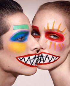 Ayami Nishimura vibrant costume face paint make-up Makeup Inspo, Makeup Inspiration, Fun Makeup, Creative Photography, Fashion Photography, Photography Books, Arte Peculiar, Dazed And Confused, Make Up Art