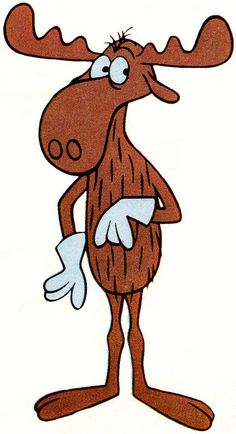 """1967- Bullwinkle the Moose.  """"Hey Rocky, watch me pull a rabbit out of my hat!"""""""
