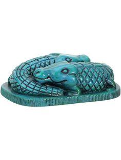 Egyptian Art Collectible Crocodiles Egypt Figurine ❤ StealStreet (Home)
