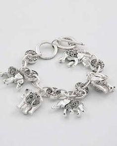 Elephant Charm Bracelet...$27.95