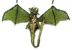 3D Beaded Olive Dragon : Beading Patterns and kits by Dragon!, The art of beading.