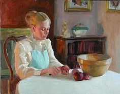 Grandma's Bowl by William Schneider Oil ~ 24 x 30 SOLD