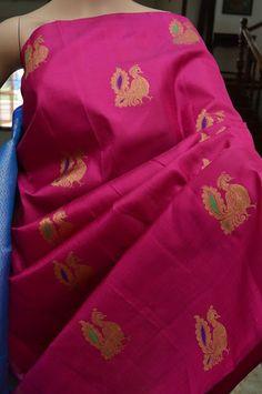 Pure silk Kanchivaram saree in tricolor | Buy Online Kanchi Pattu Sarees | Elegant Fashion Wear