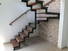 Staircase Design Modern, Modern Stair Railing, Home Stairs Design, Modern Stairs, Railing Design, Stairs To Heaven, Steel Structure Buildings, Iron Staircase, House Construction Plan