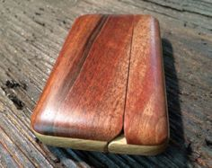 Walnut Wood Wallet, Fine Woodwork