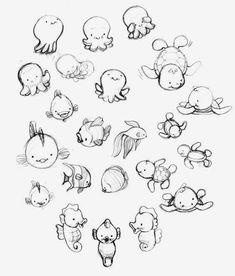 tiere Tierillustrationen T Doodle Art cuteanimalstodraw doodle art OctopusTattoocute Tiere Tierillustrationen Art And Illustration, Animal Illustrations, Illustrations Posters, Cartoon Drawings Of Animals, Cute Animal Drawings, Cartoon Art, Cartoon Characters, Doodle Art, Animals Tattoo