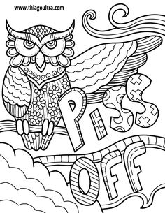 Free Pages Swear Word Adult Coloring