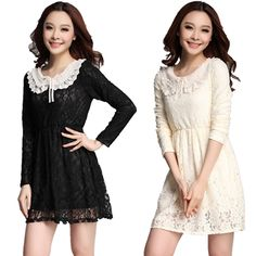 In 2013 the new spring clothing han edition dress long sleeve lace dress