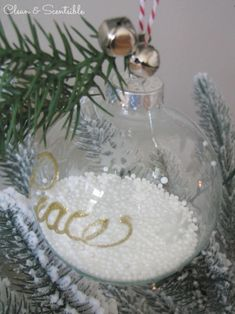 Easy DIY Christmas Ornament.