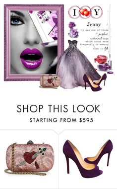 """i love you"" by smile2528 ❤ liked on Polyvore featuring OPI, Gucci and Christian Louboutin"