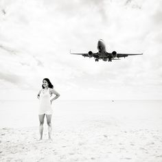 Amazing photos of planes and people sunbathing.