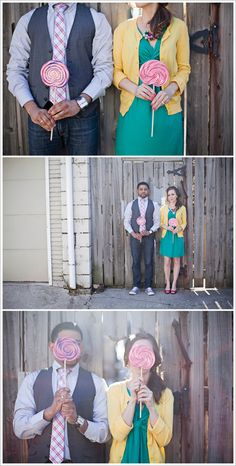 Candy Themed Engagement Session