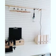 ferm LIVING Grid Wallpaper: http://www.fermliving.com/webshop/shop/wallpaper/grid-wallpaper-black-white.aspx