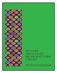 Bead Peyote Bracelet Afghan-Squares by MyTreasureIsland on Etsy