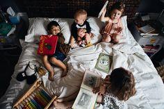 4 little monkeys in the bed