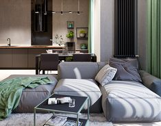 Interior design of 2 floor apartments locates in Kyiv, made in minimalistic style with loft elements using natural materials Apartment Interior Design, Luxury Homes Interior, Best Interior, Interior Ideas, Loft Interiors, Woman Bedroom, Beautiful Homes, Beautiful Places, Fashion Room